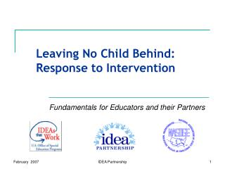 Leaving No Child Behind: Response to Intervention