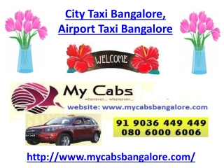 City Taxi Bangalore, Airport Taxi Bangalore