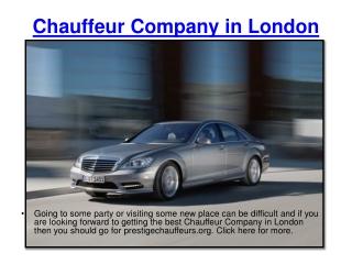 Chauffeur Company in London