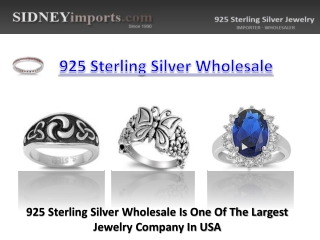 925 Sterling Silver Wholesale