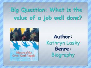 Author:   Kathryn  Lasky Genre:  Biography