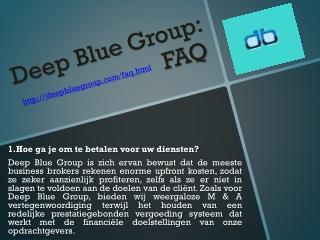 Deep Blue Group FAQ
