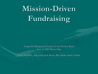 Mission-Driven Fundraising
