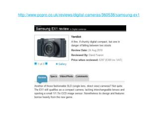 samsung ex1 review in digital cameras