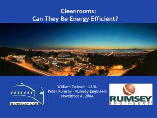 Cleanroom Energy Benchmarking Results