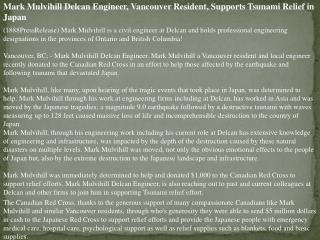 mark mulvihill delcan engineer, vancouver resident, supports