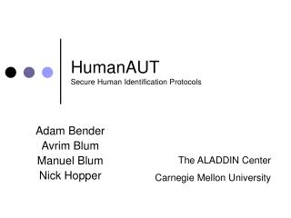 HumanAUT Secure Human Identification Protocols