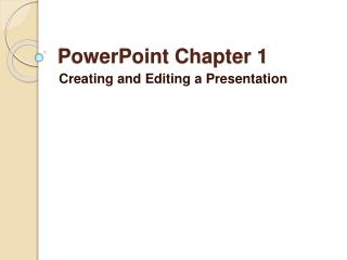PowerPoint Chapter 1