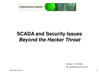 SCADA and Security Issues Beyond the Hacker Threat