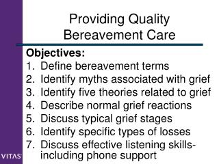Providing Quality Bereavement Care