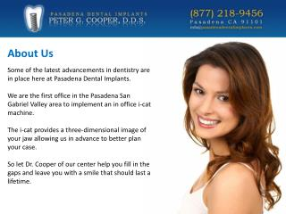 Pasadena Dental Surgery - Peter G. Cooper