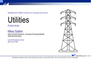 The structural defects of the utilities sector...