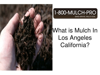 what is mulch in los angeles california