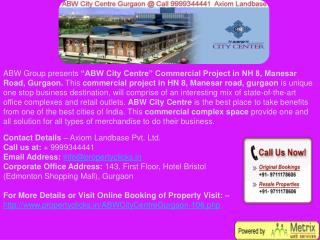city center gurgaon | abw commercial city centre | gurgaon manesar