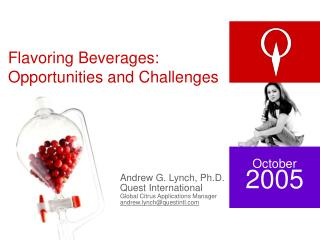 Flavoring Beverages: Opportunities and Challenges