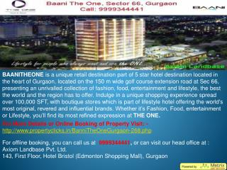 the one gurgaon l baani the one gurgaon l baani the one sector 66 gurgaon