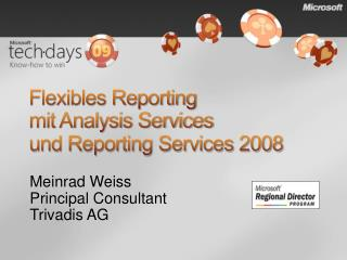 Flexibles Reporting  mit Analysis Services  und Reporting Services 2008