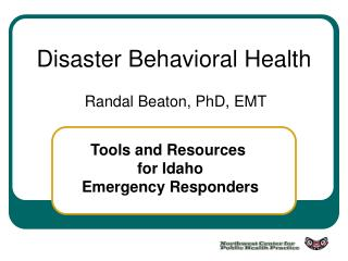 Disaster Behavioral Health
