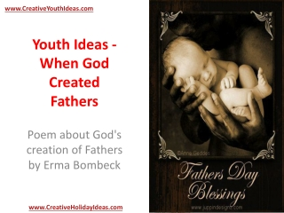 Youth Ideas - When God Created Fathers