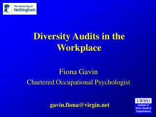 Diversity Audits in the Workplace