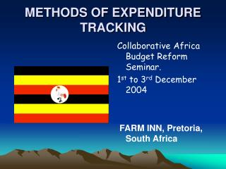 METHODS OF EXPENDITURE TRACKING