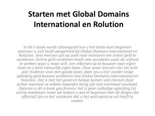 starten met global domains international en rolution