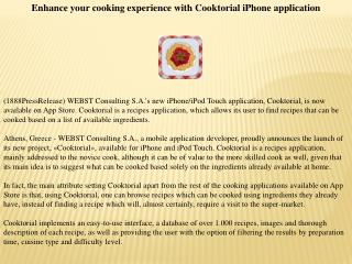 enhance your cooking experience with cooktorial iphone appli