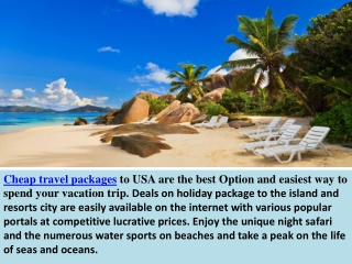Online travel packages, flight booking with cheap air ticket