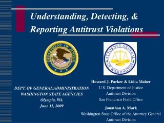 Understanding, Detecting, &  Reporting Antitrust Violations