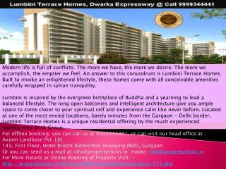 lumbini terrace l lumbini terrace homes gurgaon l lumbini terrace price list