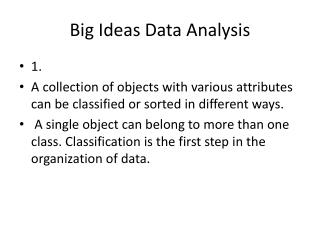 Big Ideas Data Analysis