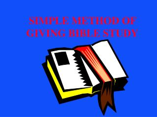 SIMPLE METHOD OF GIVING BIBLE STUDY