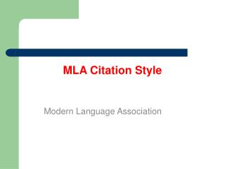 MLA Citation Style