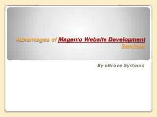 advantages of magento website development services