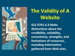 The Validity of A Website