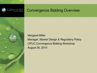Convergence Bidding Overview