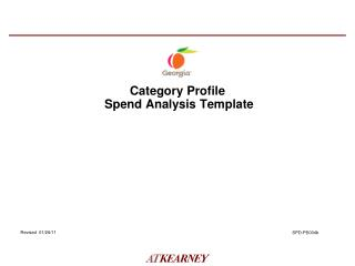 Category Profile   Spend Analysis Template