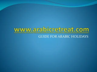 Arabic Retreat