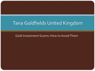 Gold Investment Scams: How to Avoid Them