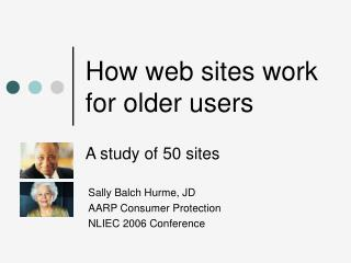 How web sites work for older users