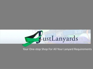 Your One-stop Shop For All Your Lanyard Requirements