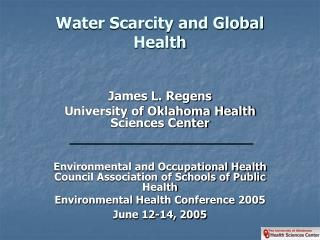 Water Scarcity and Global Health