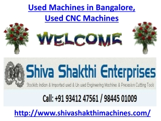 Used Machines in Bangalore, Used CNC Machines in Bangalore