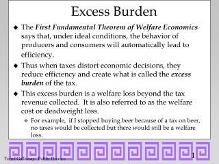 Excess Burden