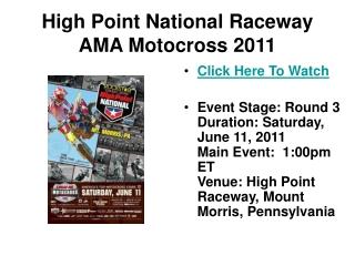 watch high point national raceway ama motocross series race