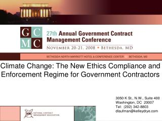 Climate Change: The New Ethics Compliance and Enforcement Regime for Government Contractors