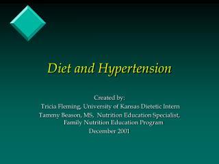 Diet and Hypertension