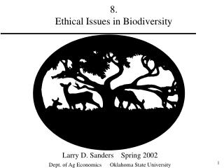 8.   Ethical Issues in Biodiversity