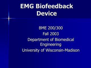 EMG Biofeedback Device