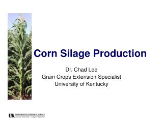 Corn Silage Production